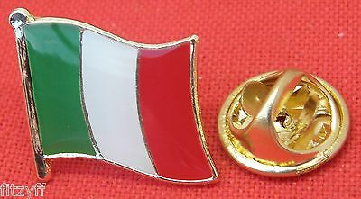 Italy Italian Country Flag Lapel Hat Tie Cap Pin Badge Brooch