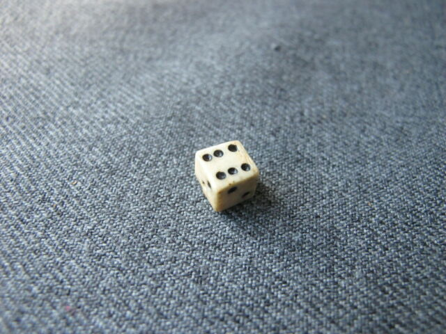 Antique Miniature Bovine Bone Dice 260e Ebay