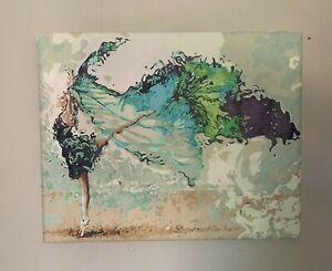 Cadre Tableau Décoration peinture danseuse