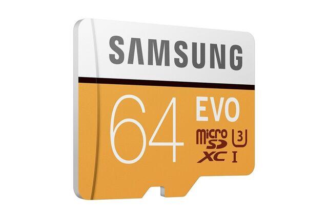 SAMSUNG EVO 64GB MICRO SD SDXC classe 10 Scheda di memoria 100MB/S CON OMAGGIO