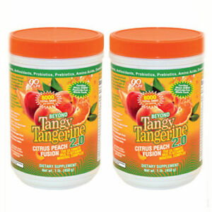 Youngevity-Beyond-Tangy-Tangerine-2-0-Peach-Fusion-2-pack-Scratch-n-Dent