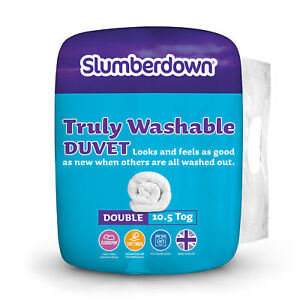 Slumberdown Truly Washable 10.5 Tog All Year Round Easycare Duvet, Double