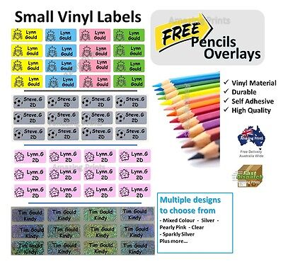 Kids Pencil Mixed Size Stationary Name school labels personalised Stickers books