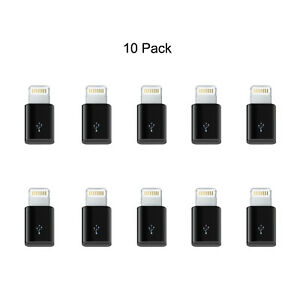 New-10-Pack-8-pin-Lightning-Plug-to-Micro-USB-Converter-Adapter-Connector