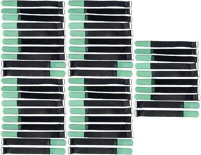 50 X Cavo Velcro Nastro Di Velcro 160 X 16 Mm Verde Scuro Velcro Fascette Per Cavi In Velcro Nastri-mostra Il Titolo Originale Materiali Superiori