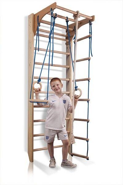 Wtutti Bars Home gym Gymnastic Climbing Swedish Ladder Wooden Playground 240cm