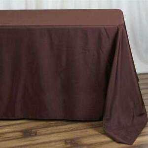 5-Pk-90x132-in-Polyester-Rectangle-Seamless-Tablecloth-Wedding-Party-Banquet