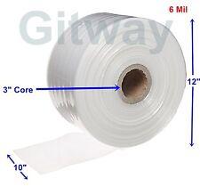 10 X 725 Clear Poly Tubing Tube Plastic Bag Polybags Custom Bags On Roll 6ml
