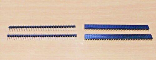 40 Pin 2.54mm Male Female Socket Pin Header Connector Pinstrip Strip 2 PAIR