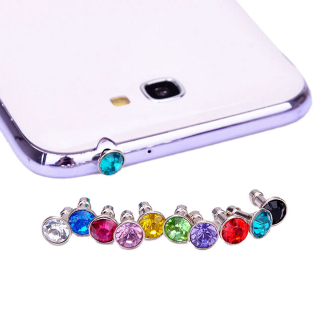 10X Anti Dust Crystal Caps Earphone Jack Plug Stopper For Mobiles-Phone~10*3.5mm
