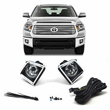 Driving Lamps Kit Pair Fog Lights Truck Off Road Chrome for Toyota Tundra 2014+