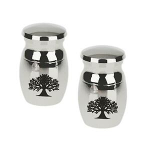 2x Paw Print Always in my Heart Pet Ashes Cremation Urn Funeral Memorial Jar