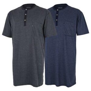Details zu AMMANN Herren Nachthemd kurz, Nachtwäsche, kurze Arme, kurzärmlig Brusttasche