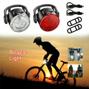 3LED Rechargeable Bike Tail Light Bicycle Safety Cycling Warning Front Rear Lamp