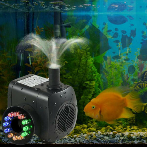 800L//H Electric Water Feature Pump Small Fountain for Outdoor Garden Fish PondUK
