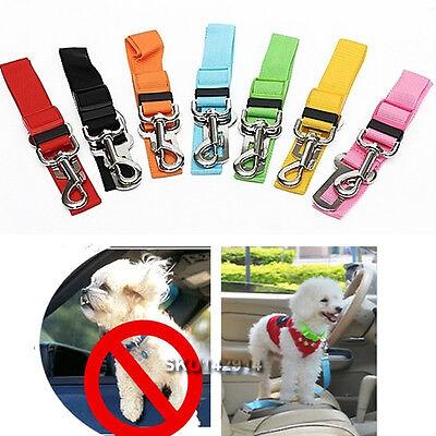 Adjustable Pet Dog Cat Car Vehicle Safety Seat Belt Harness Restraint Lead Nylon