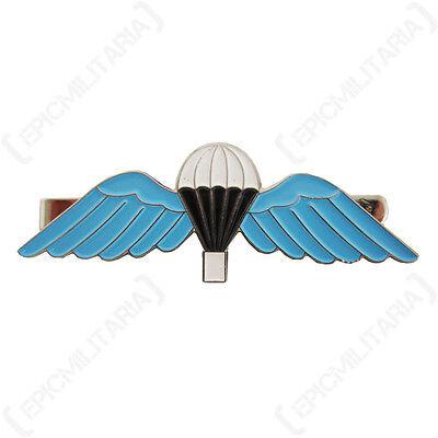 Britische Fallschirm Flügel groß KRAWATTENNADEL Blau Emaillierte Military Stil