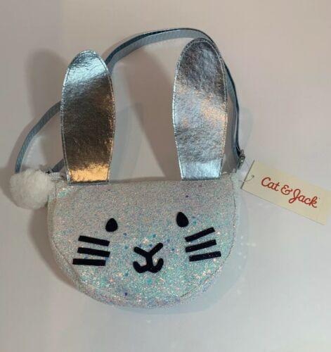 Cat /& Jack White Girls/' Glitter Bunny Mini Bag