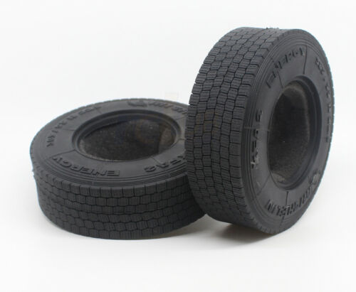 1//14 Michelin Tires for Tamiya Tractor Truck MAN Scania Benz 2 Pcs Wide Tires