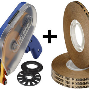 Biadesivo transfer tapes reverse (ATG system) alto spessore 0,13mm + dispenser