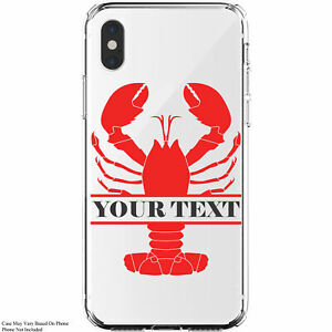 Custom-Lobster-Monogram-Personalized-iPhone-11-Galaxy-Clear-Phone-Case