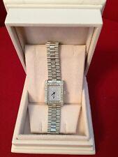 18K White Brush Gold Pave DiamondsWomans Watch Ultra Slim 62 Gr 3Ct Dia