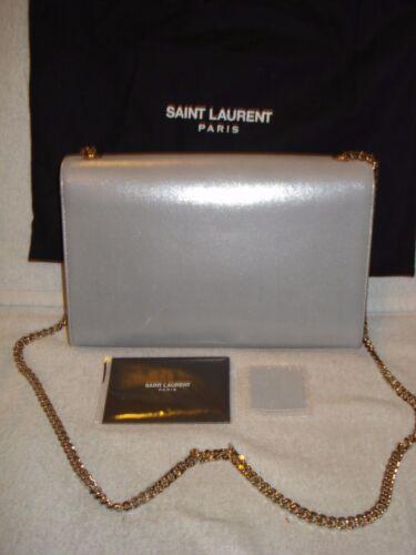 Silver bolso Saint auténtico Kate Bandolera Nueva Yves 100 Chain mujer Suede Laurent IwOqxP