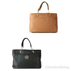 Tory Burch (60415) Pebbled Leather Britten Satchel Hand Bag