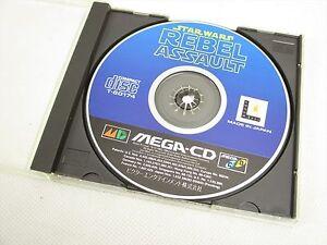 Mega-CD-STAR-WARS-REBEL-ASSAULT-No-Instruction-bbn-Sega-Import-Japan-Game-mcd