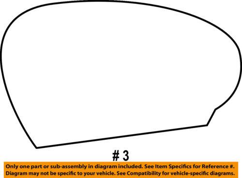 Dodge CHRYSLER OEM Challenger Door Rear Side View-Mirror Glass Right 68048446AA