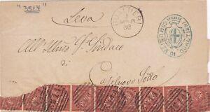 Regno-d-039-Italia-1888-Lettera-da-Gualtieri-con-2-strisce-da-5-del-2c