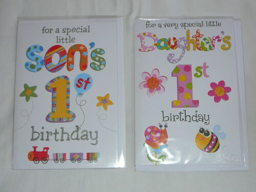 SON DAUGHTER 1ST BIRTHDAY CARD MALE FEMALE FIRST BIRTHDAY PARTY CELEBRATION