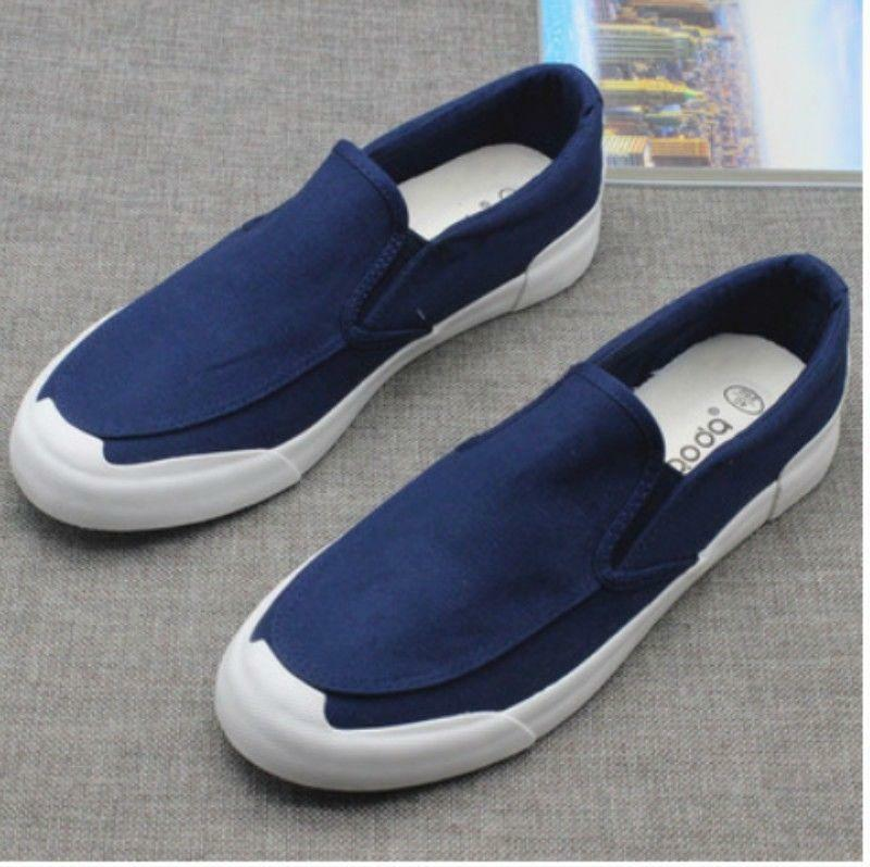 2018 Canvas shoes Breath Comfort Leisure Men Flats Slip On Loafers Sneaker Vogue
