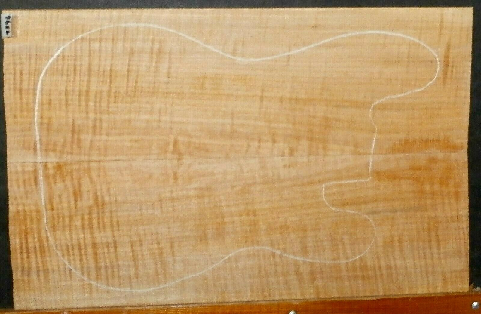 Figurot Flame Maple Instrument Wood 9596 Luthier Guitar Top Set 24x 15x .500