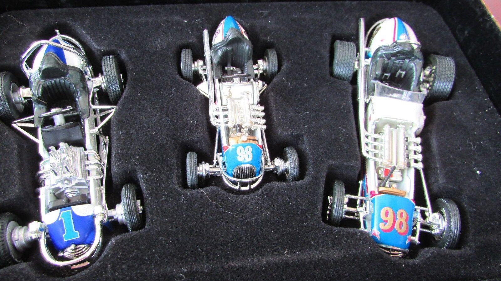 1 43 GMP Parnelli Jones 3 dirt race car set Agajanian owned midget sprint Champ