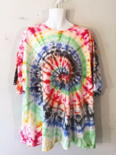 "Tie Dye t shirt tee 5XL XXXXXL tee music festival clothing fancy boho 62-64"" 70"