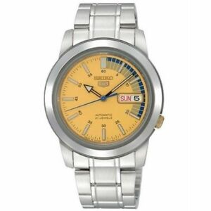 590e025d02d4 Seiko 5 Automatic Gold Dial Stainless Steel Mens Watch Snkk29 for ...