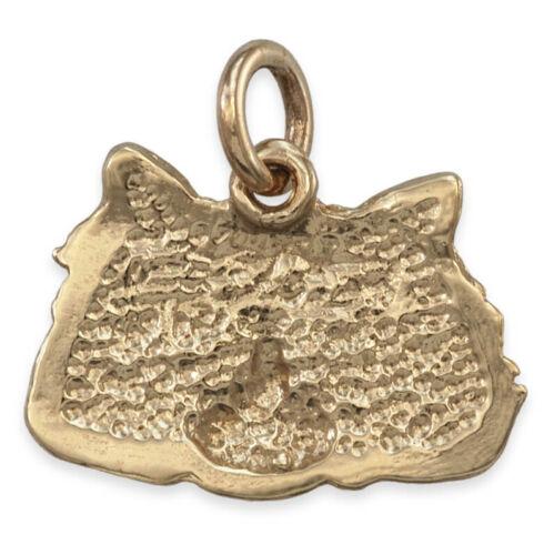 CAT FACE Pendants Long Fur Or Short Fur ~ Solid 9ct Gold Handmade UK