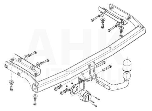 Nissan Note 06-13 Kpl AHK Anhängerkupplung starr+ES 7p uni