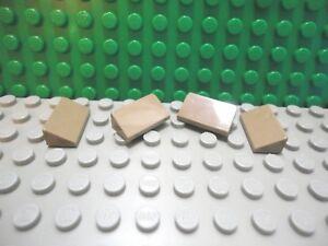 Lego 10 Tan 1x1 Roof Finishing Tile 30 degree Slopes NEW