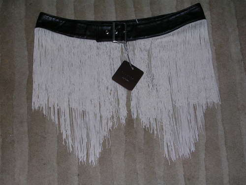 "BNWT SASS & BIDE Wolfnation ""My Salvation"" Fringe Belt 2005 Birds of Passage"