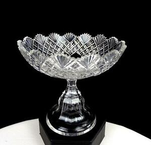 ABP-BRILLIANT-PERIOD-CUT-CRYSTAL-STRAWBERRY-DIAMOND-amp-FAN-4-5-8-034-COMPOTE-1890
