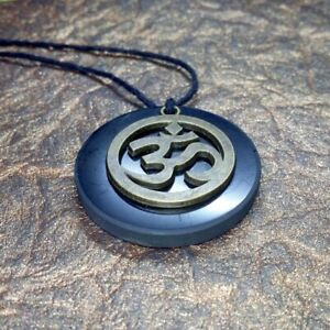 Karelian Shungite Pendant with Scandinavian Symbols Engraving  Nordic Jewelry for EMF Protection  Natural Healing Spiritual Necklace