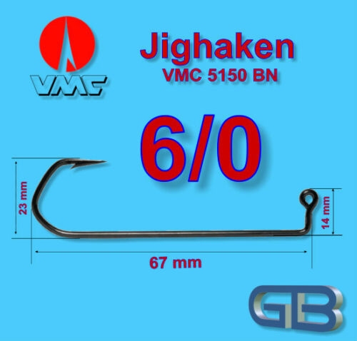 Jig Haken VMC Special Barbarian 90° 6 RD 10//0 für Jigköpfe gießen Bleigussform