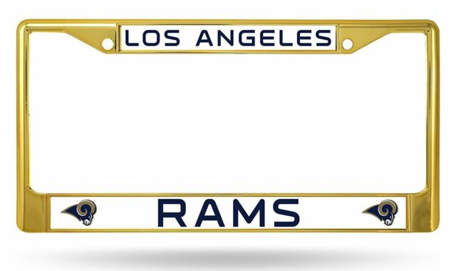 2-lot of Los Angeles Rams NFL Football License Plate Auto Tag Frames ...