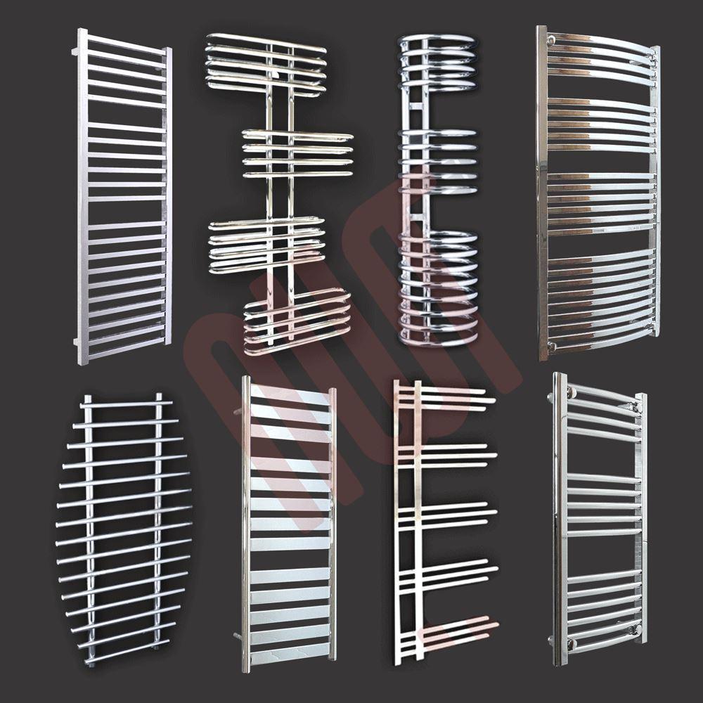 Chrome Designer ou une serviette noire Rails   Radiateurs - mm(w) x mm(h)