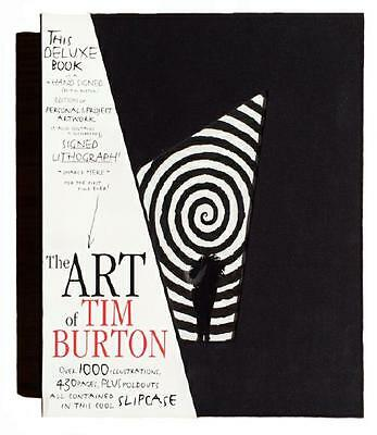 ART OF TIM BURTON ~ NEW & SEALED DELUXE LTD ED > 1000 ~ HAND SIGNED LITHO & BOOK