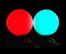 Glow Poi XL 7 Color Changer Set with Ropes, Extra Large Light Up LED Glow poi !