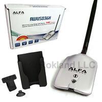 Alfa AWUS036H 1000mW 1W 802.11b/g USB Wireless WiFi network with 5dBi Antenna and Suction cu... (WUS036HandUmount) 802.11g/b Wireless Adapters