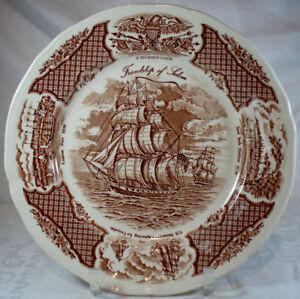 Alfred-Meakin-Fair-Winds-Brown-Dinner-Plate